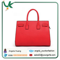 Genuine Leather Women Handbags 2014 New Hot designed Brand Square Bag Red Micro Litchi Pattern Wholesale