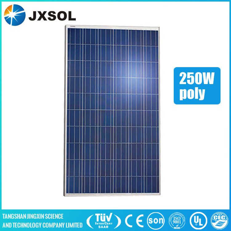 A grade cells hot sale pv module 250w poly crystalline solar panel with TUV IEC CEC certificates