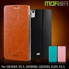 MOFi Waterproof Leather Flip Smart Mobile Phone Cover Cases for GIONEE S5.5, GN9000, GIONEE ELIFE S5.5
