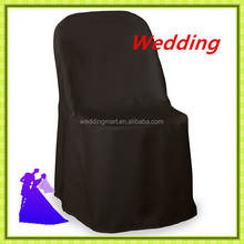 Hot selling & cheap price !!! folding polyester chair cover for wedding
