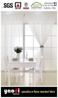 Ready made sheer curtain made with flame retardant fabrics
