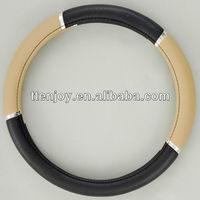 Leather Car Steering Wheel Cover EJ6003,Covers For Cheap Cars
