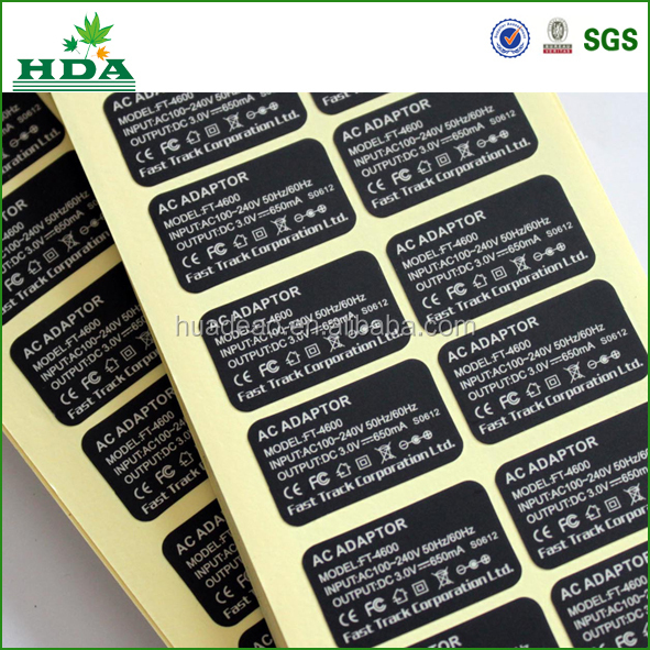 hot sale patch cable labels, wire labels printed