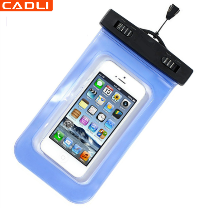 wholesale universal waterproof snow proof cell phone carrying cases dry bag underwater transparent pouch for phone