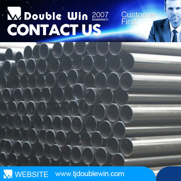 China Suppliers round black ERW welded carbon steel pipe tube with standard STKM 13a with price per piecefor structure