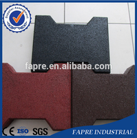 Safety Rubber Tiles/Driveway Recycled Rubber Bricks