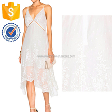 White Silk Veil Asymmetrical Hem Midi Sexy Evening Dresses For Women Manufacture Wholesale Fashion Women Apparel (TF0655D)