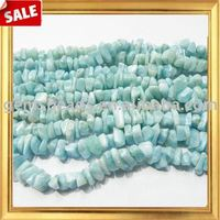 Wholesale natural gemstone larimar chips beads