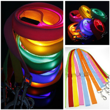 China Alibaba Supply Soft Handle Dog Leash Pet Harness Dog Lead Chain With Led Flashing For Big Dogs