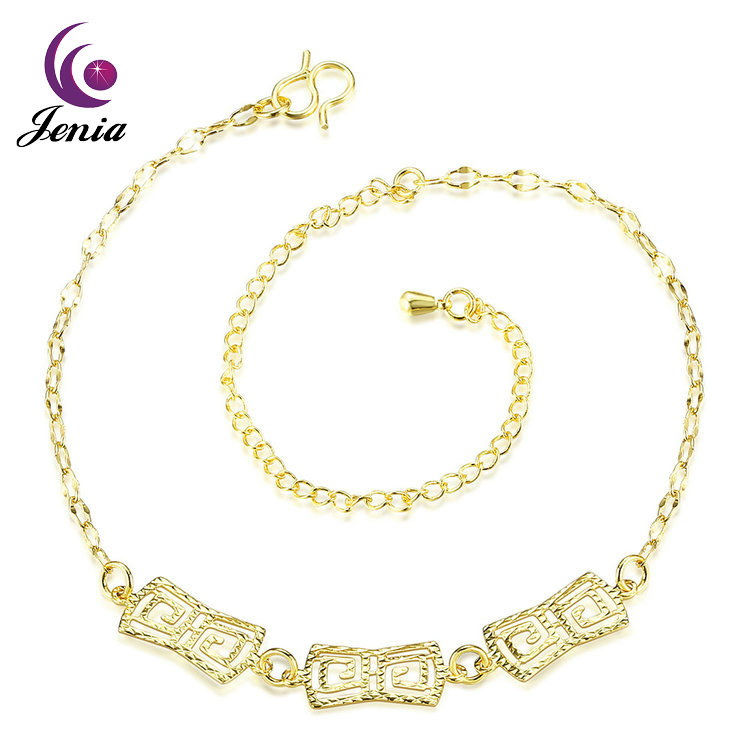 Jenia Top Quality Wholesale Gold Jewellery Charm Thin Anklet For Girls