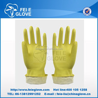 50g yellow color Disposable Surgical Medical Laboratory latex rubber hand gloves