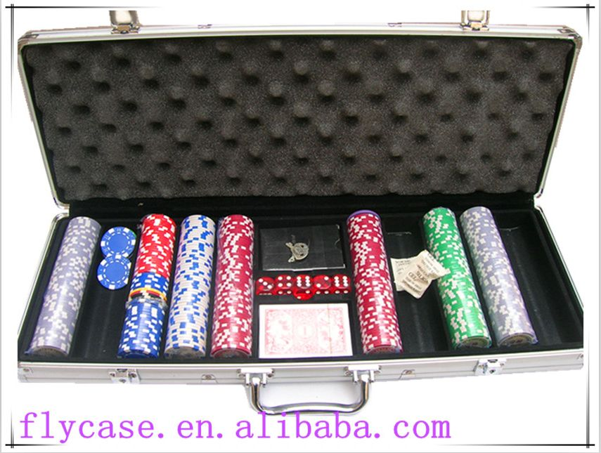 Aluminum Casino case,empty aluminum case,500pcs aluminum poker chip set