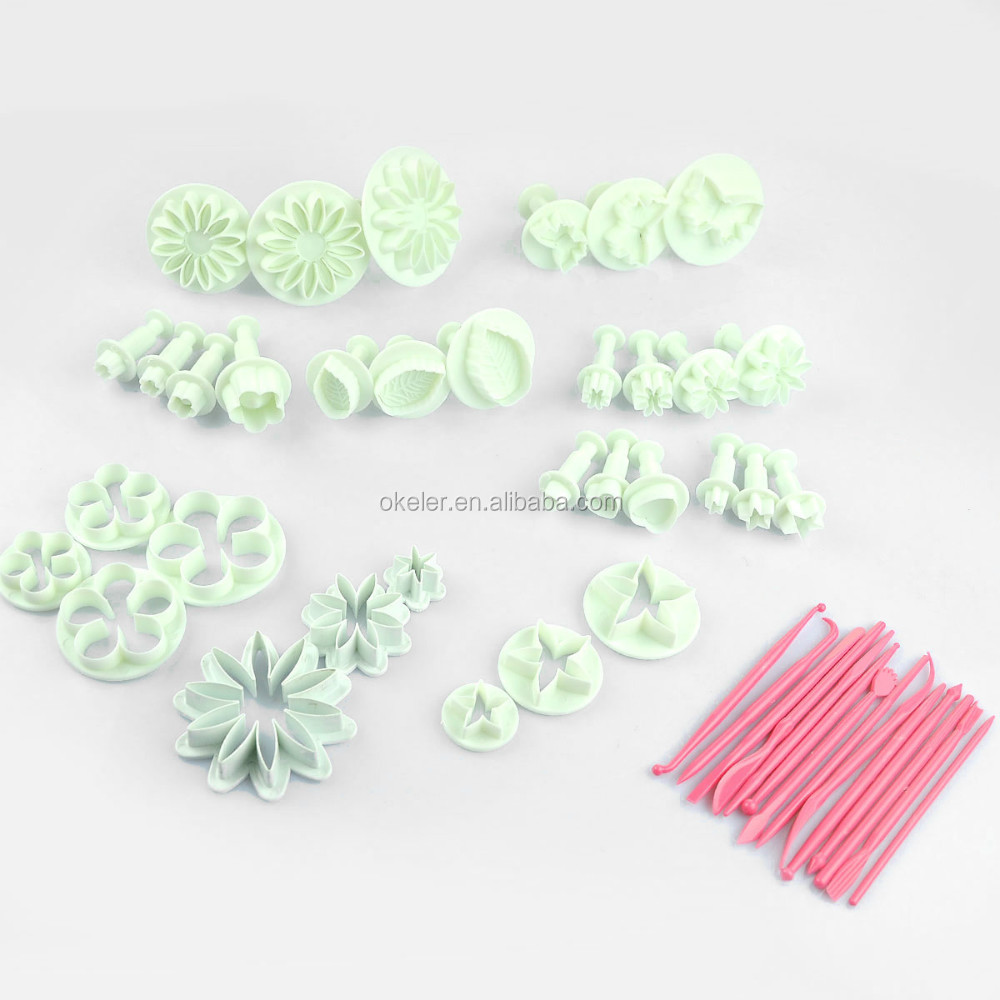 2015 New Arrival 47pcs Cake Decoration Mold Tools Set Sugarcraft Icing Cutters Plungers Fondant