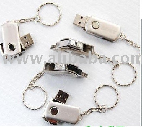 New Metal USB Flash Drive with the Swivel shape
