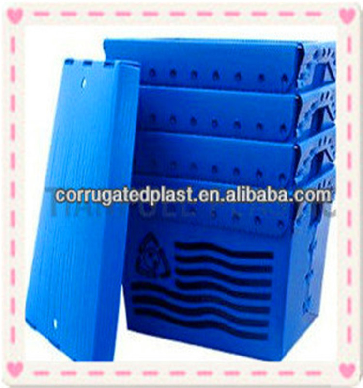 Plastic corrugated box fruit and vegetables plastic container