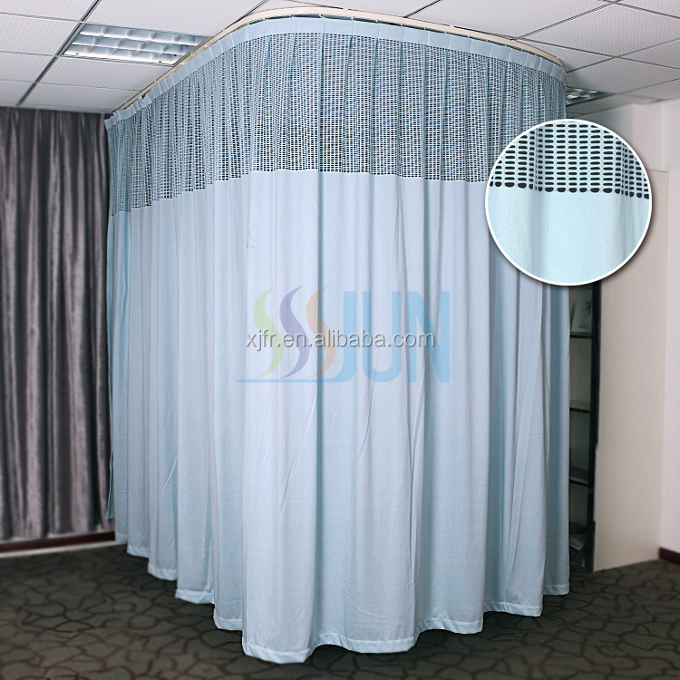 China Ready Made fire retardant Hospital curtain fabric and anti baterial partition cubicle curtain