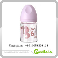 Child Nurse Bottle Glass+PP+Silicone Material Baby Conenient Feeding Bottle