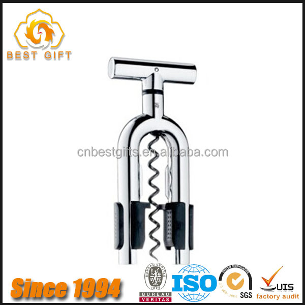 Wholesale Cheap Multifuntional Zinc Alloy Wine Opener Best Corkscrew
