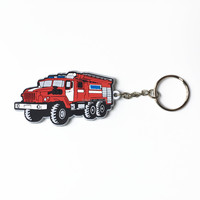 custom design rubber car shaped keychain souvenir