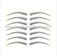 human hair hand tied lace eyebrow