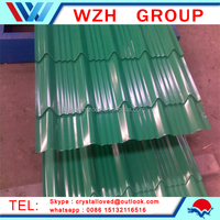 painted waved roofing tile/Corrugated Sheet Metal Roofing/meta roofing building materials from china supplier