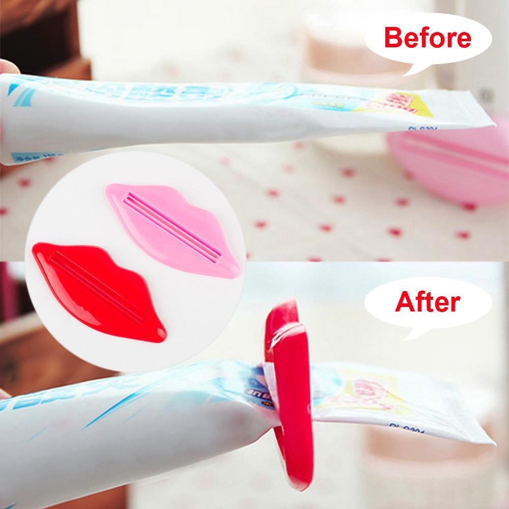 Adorable Lip Shape Toothpaste Dispenser Toothpaste Squeezing Device