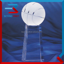 china factory customized solid crystal basketball for Sports Team keepsake