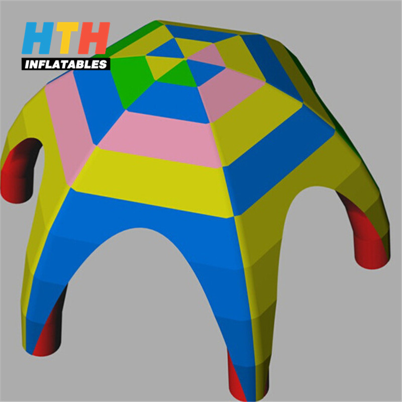 Hot sale rainbow inflatable outdoor tent small inflatable tent for sale