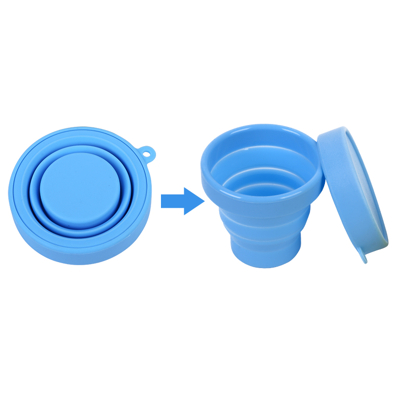 BPA Free Portable Bottle Collapsible Travel <strong>Cup</strong> Expandable Scald - Proof Drinking <strong>Cup</strong> Retractable Silicone Mug