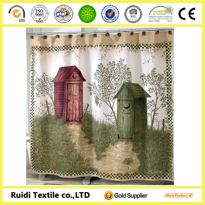 Newest style shower curtain, 3D shower curtain, Polyester shower curtain