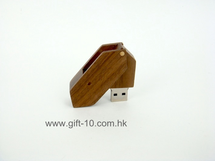 Bulk wood flash drive