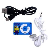 Mini Portable Cute Despicable Me Minions USB 2.0 Clip MP3 Players Support hindi songs