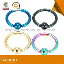 Captive Beads Slave Nose Rings Piercing Body Jewelry Manufacturer