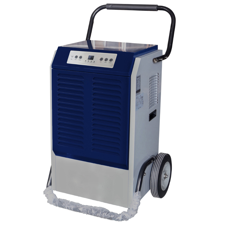 90L/day industrial portable air dehumidifier for used desiccant