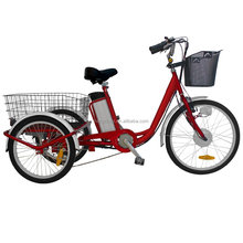 Best 36v electric tricycle with basket strong lithium battery 3wheel electric tricycle for elders