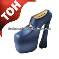 decorative polyresin high heel shoe bank