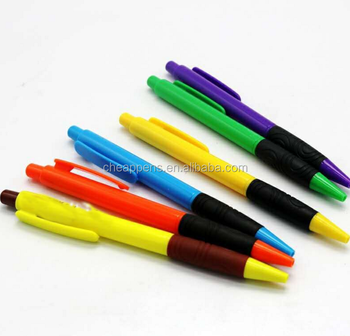 eco-friendly simple colorized 14x1cm promo plastic ballpoint pen