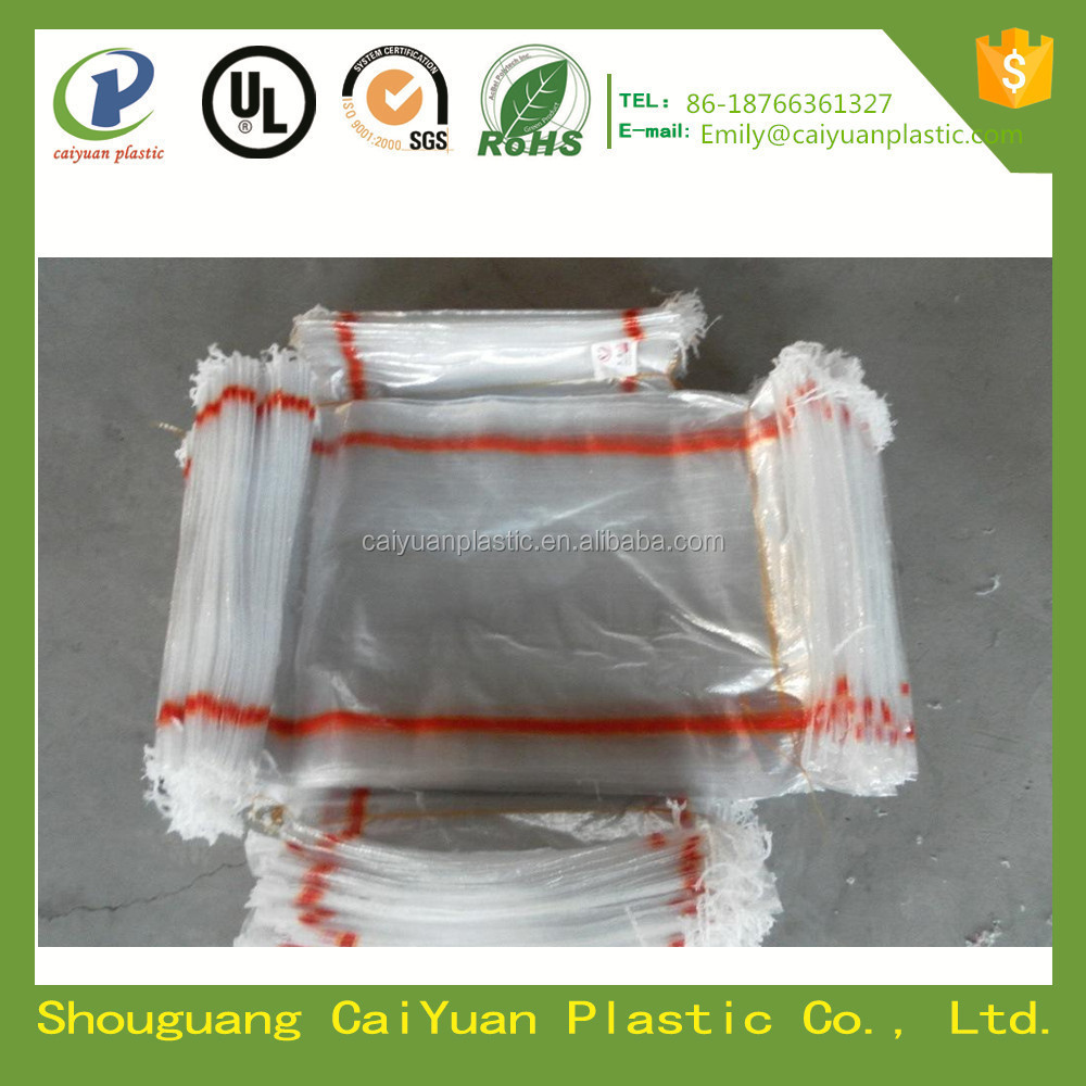 China factory price transparent pp woven bag with tape