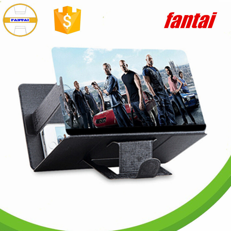 Foldable mobile phone screen magnifier bracket,Plastic tablet screen mobile phone reading magnifier