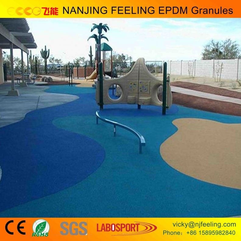Colorful Playground Rubber Sport Floor Mulch