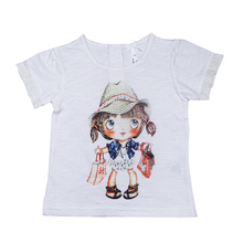 Children clothing brands short sleeve t shirt for girls,girls printed t shirts,beautiful girl t shirt