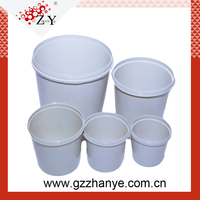Profession Blank White Plastic Paint Mixing Cup With Lid Guangzhou Wholesale