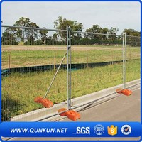 32mm OD Galvanized Construction Sites Australia Retractable Outdoor Used Temporary Fence For Australia