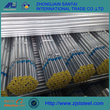 Bs1387 class b black powder coated galvanized steel pipe