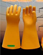Safety Rubber Gloves High Voltage For 35 KV