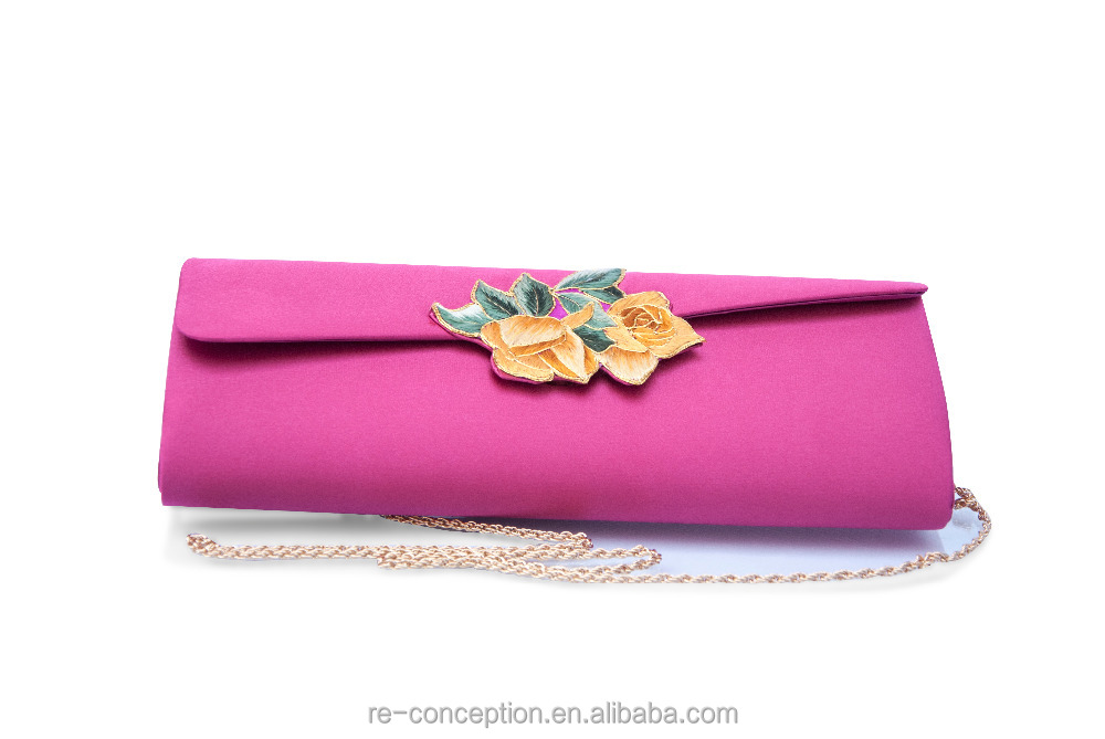 High-end Silk Evening Envelope Clutches Bag for Women
