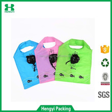 Custom 190T/210D/420D nylon pouch reusable folding shopping bag/animal folding bag/fruits folding bag