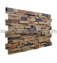 PU stone veneer polyurethane faux rock panel for interior& exterior wall