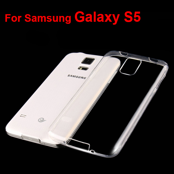 S5002 OEM Clear TPU Cover for Samsung Galaxy S5 , 0.6mm Mobile Phone Soft Case