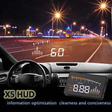 3 inch Car obd2 HUD with 2 color led head up display the speed engine speed water temperature voltage